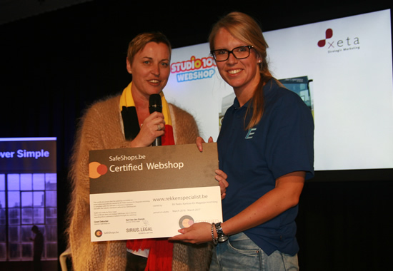 Uitreiking certificaat 'Safehops e-commerce label'